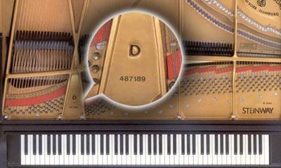 Image result for piano serial number
